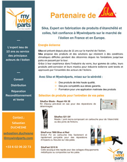 Mywind parts partenaire SIKA